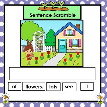 Spring Sentences:  SMARTBOARD Sentence Building Activities
