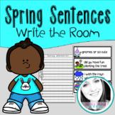 Spring Sentences - Write the Room