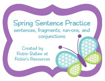 Complete, Fragment, and Run On sentences: task card sort a