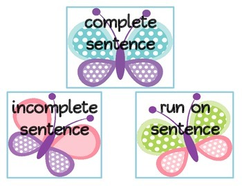 Complete, Fragment, and Run On Sentences *sample packet*