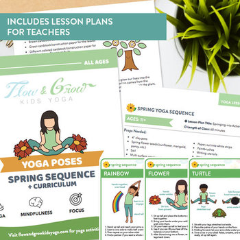 picture regarding Yoga Cards Printable identified as Spring Collection Printable Yoga Playing cards + Lesson Packages