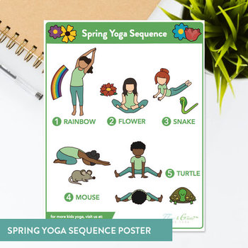 image relating to Sequence Cards Printable identified as Spring Series Printable Yoga Playing cards + Lesson Strategies