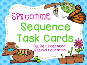 Spring Sequence Task Cards