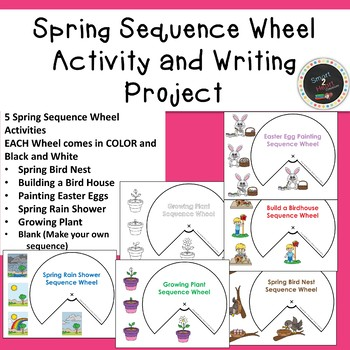 Spring Sequence Wheel Activity and Differentiated Writing Project or Center