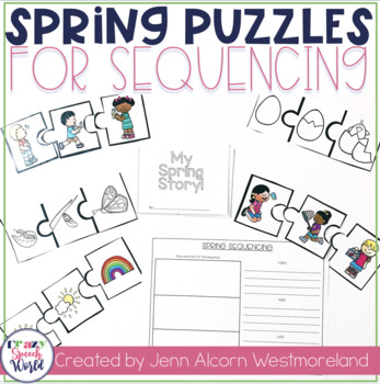Spring Sequencing Puzzles for Speech and Language
