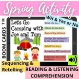 Spring SUMMER Sequencing WH Reading Listening Comprehension Story Retell - BOOM
