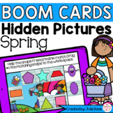 Spring Shapes Math Centers | Digital Game Boom Cards Dista