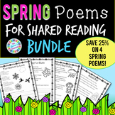 Spring Shared Reading Poems BUNDLE for K-1