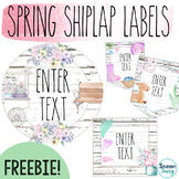 Spring Shiplap Labels for the Classroom | Editable
