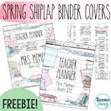Spring Shiplap Teacher Binder Covers and Spines | Editable