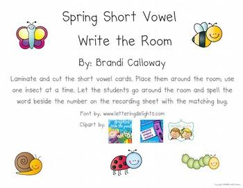 Spring Short Vowel Write the Room