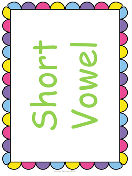 Spring Short and Long Vowel Sort