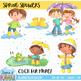 Spring Showers Clip Art (Growing Bundle)