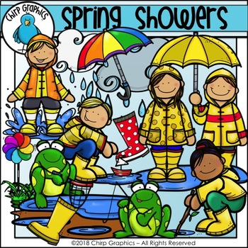 Spring Showers Clip Art Set - Chirp Graphics