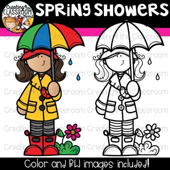 Spring Showers Clipart {Spring Clipart}