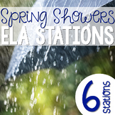 Spring Showers Common Core Literacy Stations