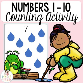 Spring Showers Counting Practice  - Mats for Play Dough, Erasers, and More!
