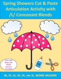 Spring Showers Cut & Paste Articulation Activity with /L/ Consonant Blends