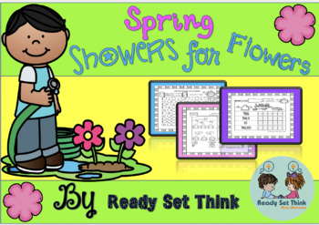 K Spring Showers For Flowers (Spring Math Bundle) - Print and Go