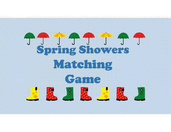 Spring Showers Matching Game