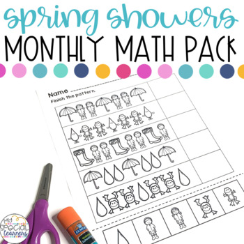 Spring Showers Math Printables for Special Education