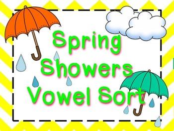 Spring Showers Medial Vowel Sort