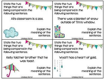 Spring Showers Metaphors