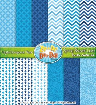 Spring Showers Raindrop Digital Scrapbook {Zip-A-Dee-Doo-Dah Designs}