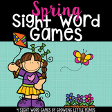 Spring Dolch Sight Word Games- Fillable to add your own list!