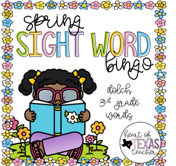 Spring Sight Word Bingo {Dolch 3rd Grade}