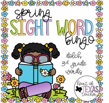 Spring Sight Word Bingo {Dolch 3rd Grade}