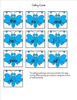 Spring Sight Word Bingo Dolch words 1-10
