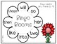 Spring Sight Word Bingo Learning Center Game  Set 3 - Fry Words 51-75