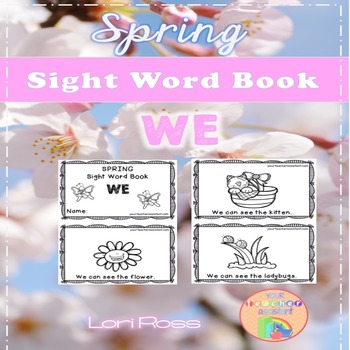 Spring Sight Word Book: WE {Freebie}
