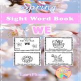 Spring Sight Word Book: WE {Freebie}