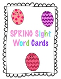 Spring Sight Word Cards- Full Rainbow Words Set