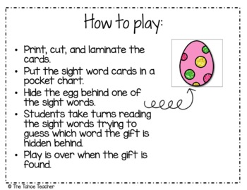 Spring Sight Word Egg Hunt Freebie