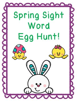 Spring Sight Word Eggs!