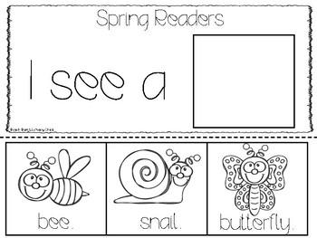 Spring Sight Word Flip Books