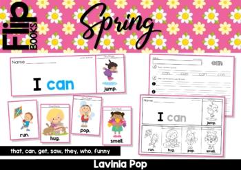 Spring Sight Word Fluency Flip Books