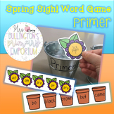 Spring High-Frequency Word Game (Primer)
