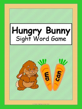 Spring Sight Word Game {Hungry Bunny}