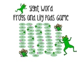 Spring Sight Word Game (frogs and lily pads pre-primer)