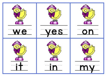 Spring Sight Word Games