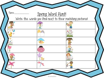 Spring Sight Word Hunt!  Write the Room with Secret Messages!