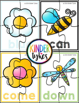 Spring Sight Word Puzzles Bundle (Pre-Primer and Primer)