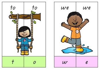 Spring Sight Word Puzzles - Pre-Primer