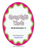 Spring Sight Word Race {Dolch Word Lists 1-11}