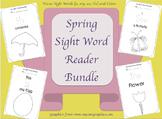 Spring Sight Word Reader Bundle// Word Focus: the, is, my, see