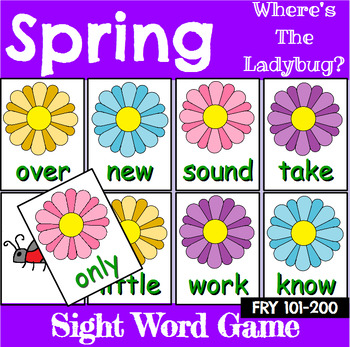 Spring Sight Word Recognition Center or Whole Group Game for Fry 1-300 Bundle